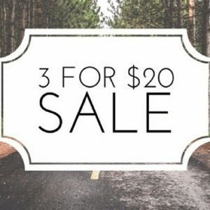 3 for $20
